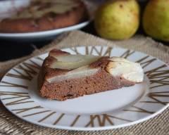 Recette gâteau chocolat, poire et gingembre
