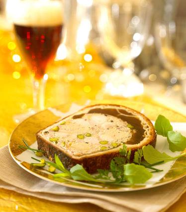 Recette de pâté en croûte de foie gras à la bière de noël