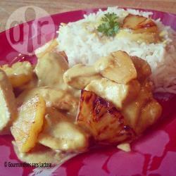 Recette sauté de poulet ananas, sauce curry coco sans lactose ...