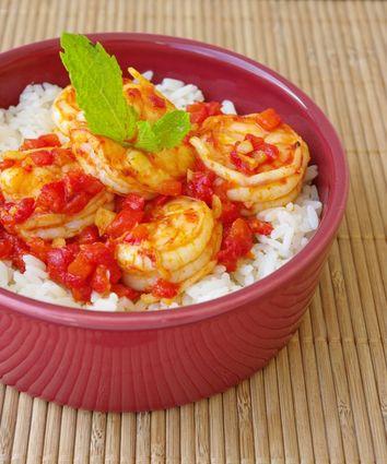 Recette de wok de crevettes pimentées au poivron