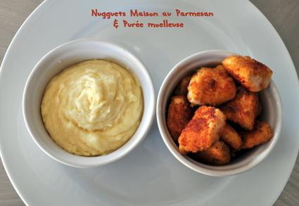 Recette de nuggets maison au parmesan et purée moelleuse