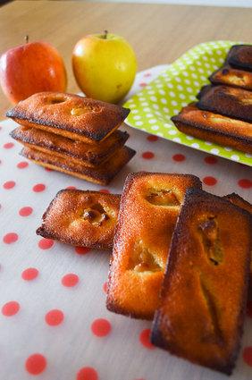Recette de financiers aux amandes et pommes caramélisées