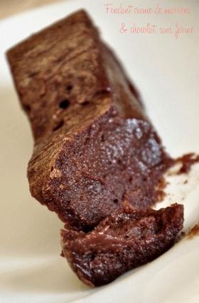 Recette de fondant crème de marrons et chocolat, sans farine