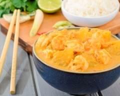 Recette lotte et crevettes au curry