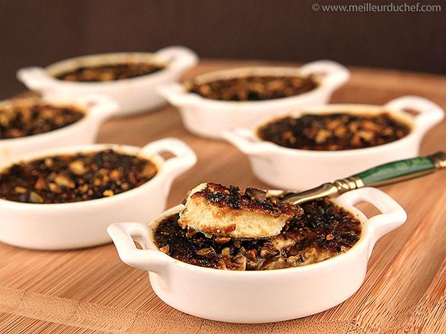 Crème brûlée de foie gras aux pistaches  la recette avec photos ...