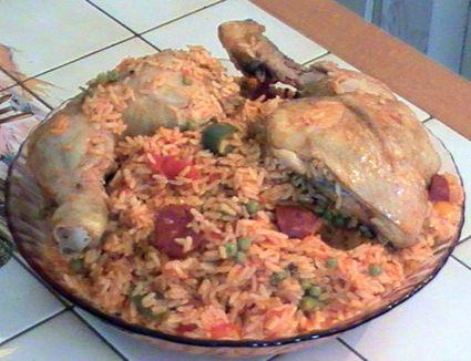 Recette de paëlla au poulet et chorizo
