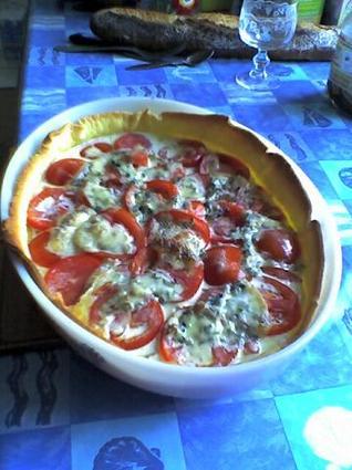 Recette de tarte au thon, au bleu et au brie