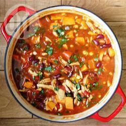Recette ragoût épicé au poulet et aux patates douces – toutes les ...