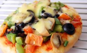 Minis pizzas aux champignons et poivrons pour 4 personnes ...