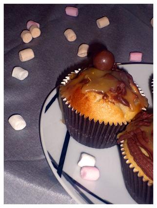Recette de cupcakes croustillant pommes, chocolat, caramel