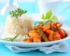 Recette curry de poulet et légumes