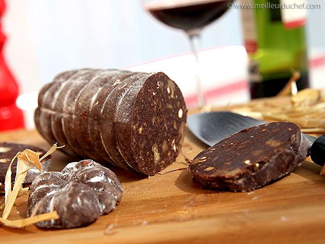 saucisson au chocolat aux petits beurre la recette facile recette. Black Bedroom Furniture Sets. Home Design Ideas