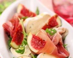Recette salade de chèvre, figues et jambon cru