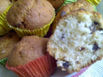 Recette de muffins coco, bananes et chocolat