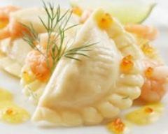 Recette ravioles au saumon et aux crevettes