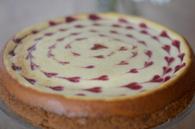 Recette de cheesecake aux petits coeurs de framboise