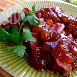 Recette rôti de porc à la sauce aux pommes et au xérès – toutes ...