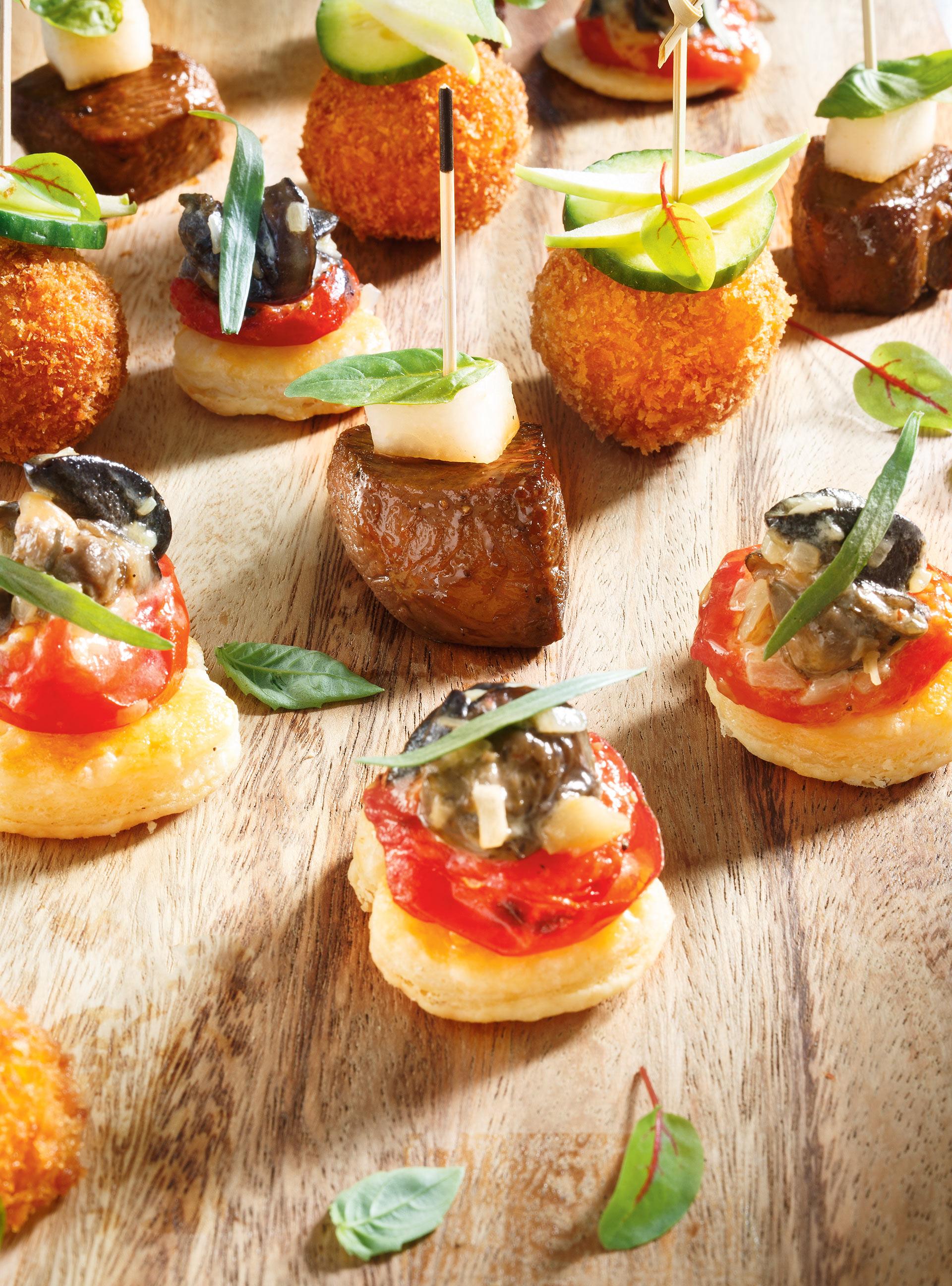 Mini-feuilletés aux escargots, au pastis et aux tomates cerises confites
