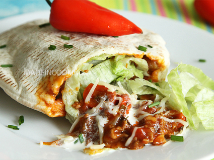 Recette de pita au boeuf mexicain