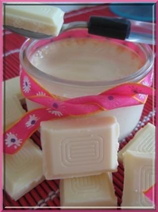 Recette de petits pots de crème au chocolat blanc
