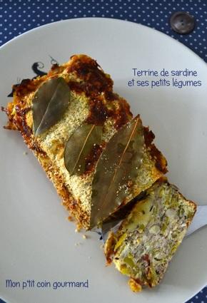 Recette de terrine de sardines et ses petits légumes