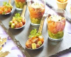 Recette verrine saumon, pomme et avocat