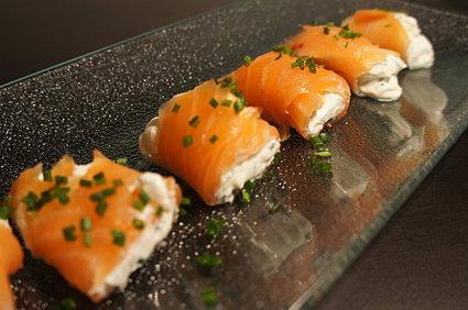 Recette de roulés au saumon et fromage frais