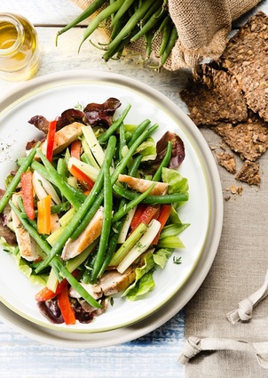 Recette de salade de volaille et haricots verts