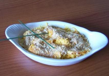 Recette de gratin de crevettes aux carottes et surimi
