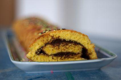 Recette de gâteau roulé au chocolat noir rapide