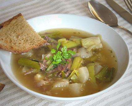 Recette de soupe de confit de canard