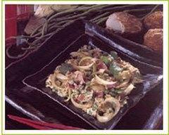 Recette oeufs brouillés aux oignons et haricots verts