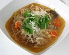Recette soupe toscane au pain et au chou végétarien