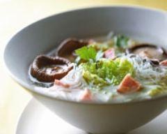 Recette soupe au chou et champignons