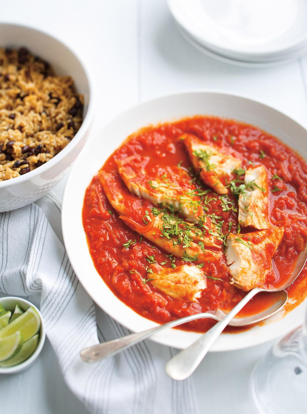 Riz à la mexicaine et poisson tomaté | ricardo