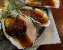Recette huîtres chaudes au réglisse