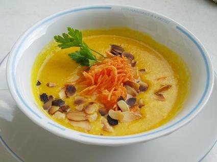 Recette de velouté de carottes au curry