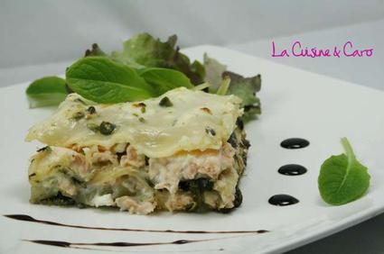 Recette lasagnes saumon-épinards (poisson)