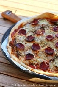 Recette de pizza fine aux aubergines grillées, persillade et chorizo ...