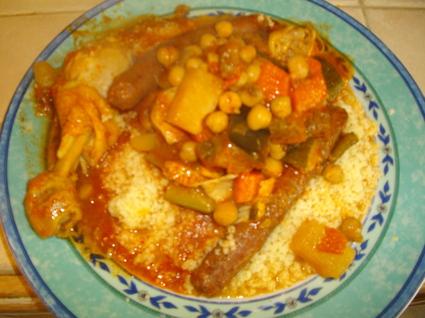 Recette de couscous poulet merguez