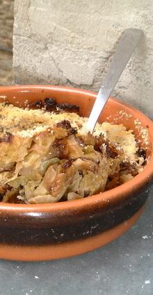 Recette de gratin de choux de bruxelles au parmesan