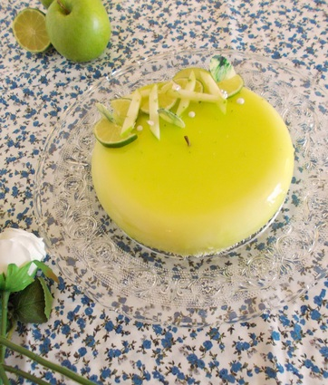 Recette entremets pomme verte citron vert coco