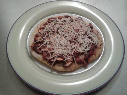 Recette de pizza express à la poêle