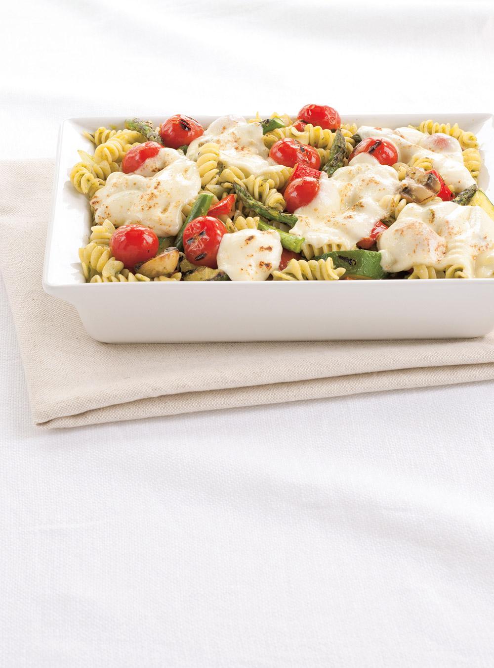 Rotinis aux légumes grillés gratinés à la mozzarella fraîche   ricardo