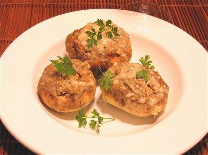 Recette de champignons farcis et crème de gorgonzola