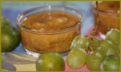 Recette de compote de raisins et reines claudes