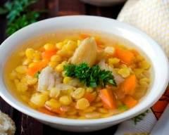 Recette soupe aux pois et au lard