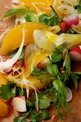 Recette de salade d'oranges aux herbes acidulées