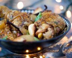 Recette tajine de poulet aux poires et à la vanille