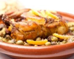 Recette tajine de poulet aux pommes de terre et olives vertes